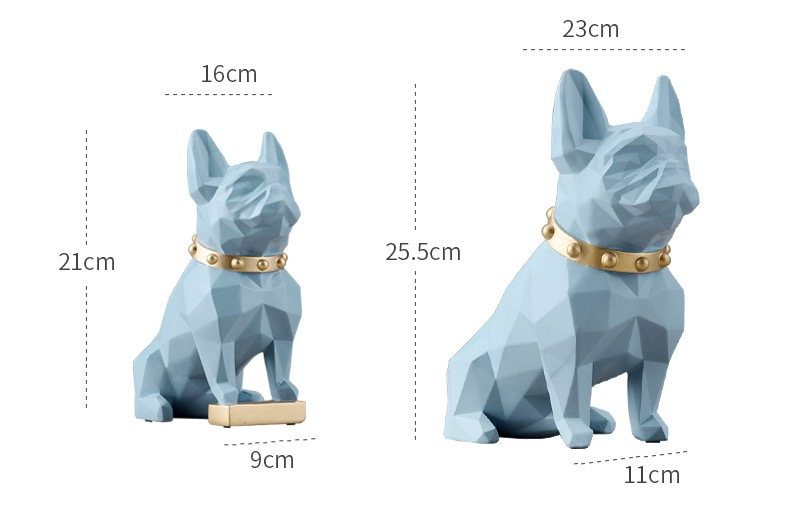 French Bulldog Resin Statues